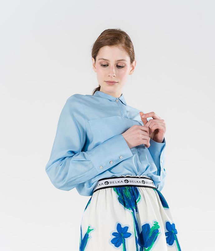 Батистовая блуза S Belkafashion
